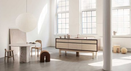 Garde Hvalsøe Presents Framed: A New Kitchen Model Mixing Wood, Copper + Zinc
