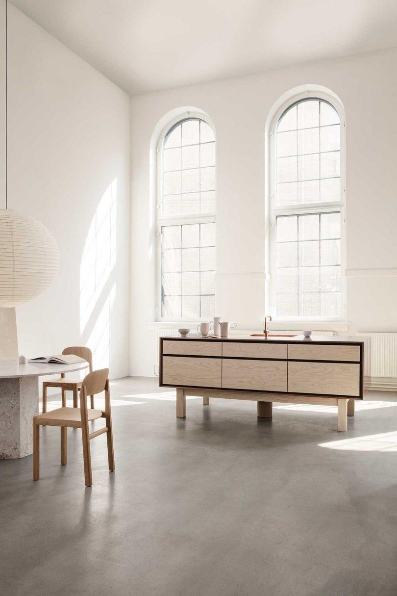 Garde Hvalsøe Presents Framed: A New Kitchen Model Mixing Wood, Copper + Zinc