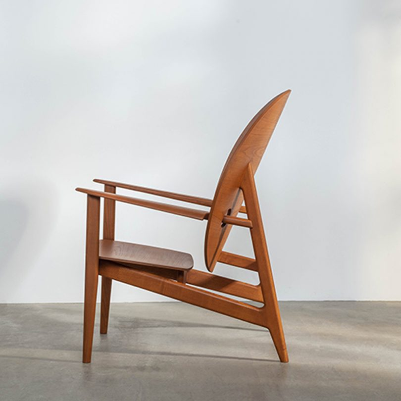 side view of chair