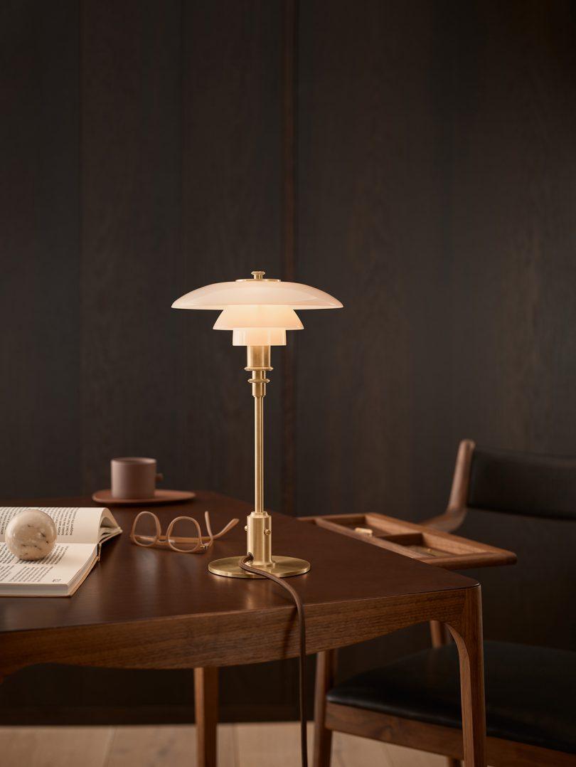 table lamp on desk