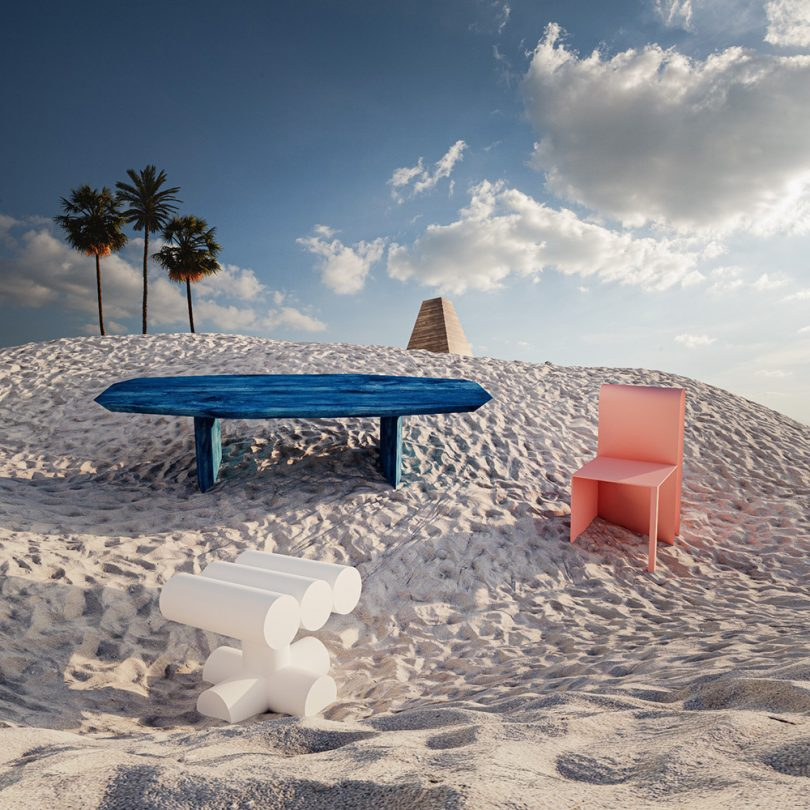 furniture in sand dune
