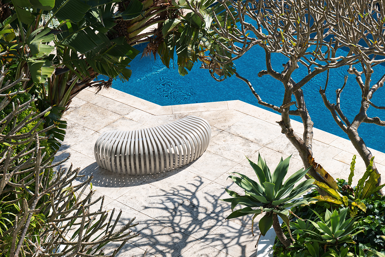 The Ribs Bench Takes Its Curves Outdoors
