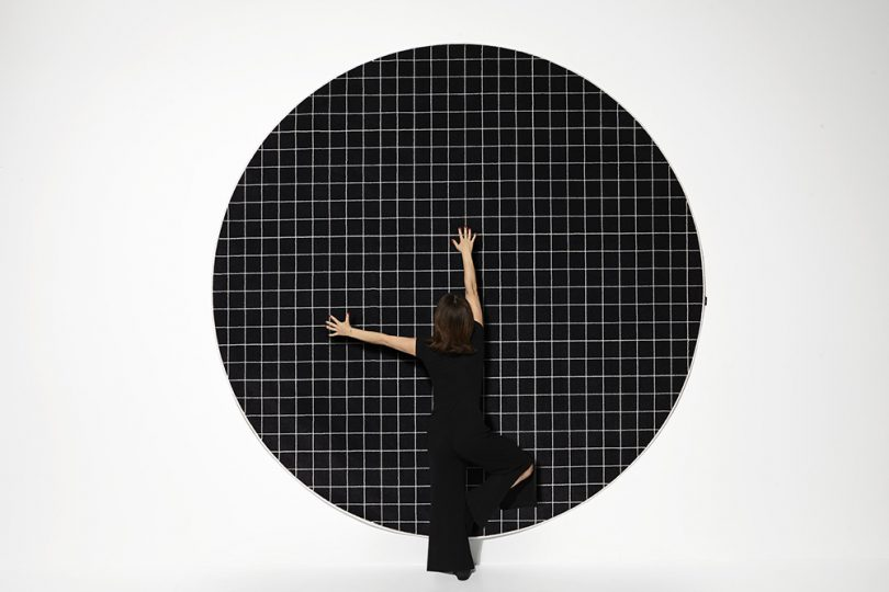 round rug on wall