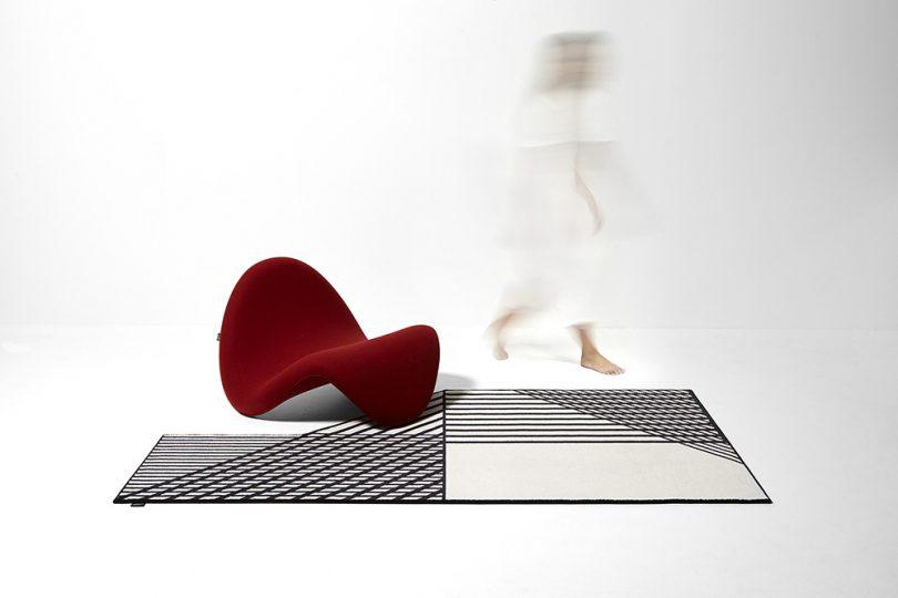 rectangular rug in room