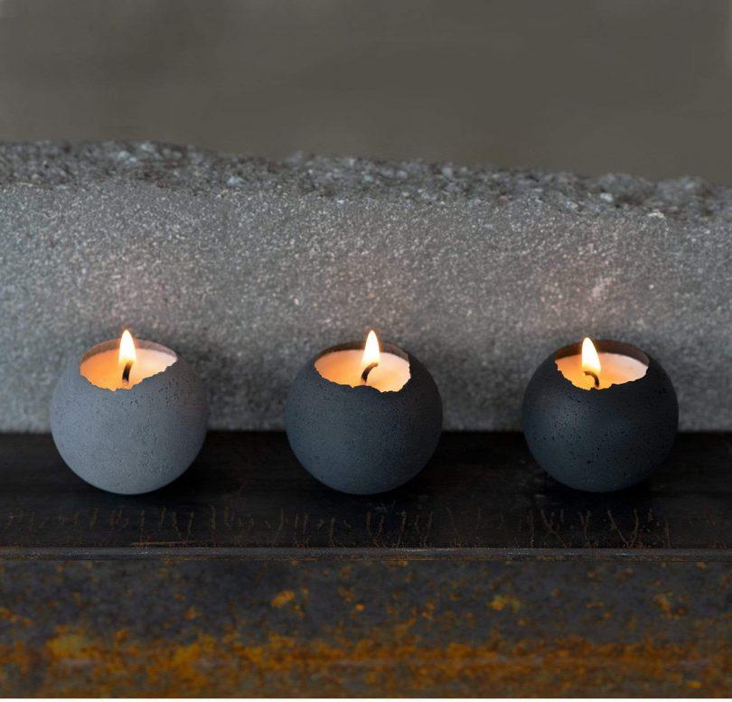 Image of Take5 Konzuk Small Orbis Concrete Tealights 810x777