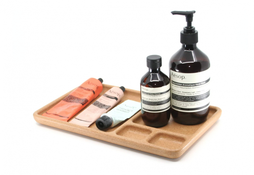 wooden organizational tray