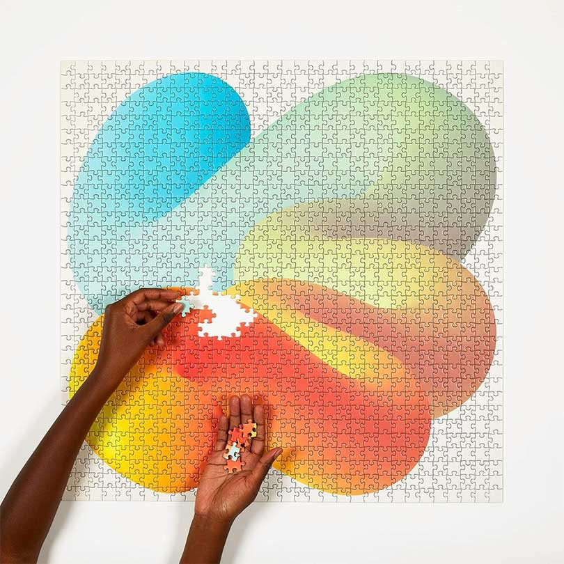 Image of four point puzzles fade