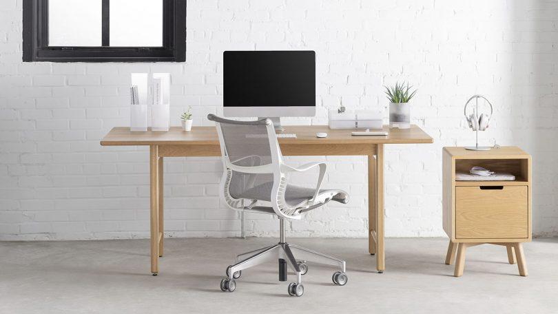work desk setup