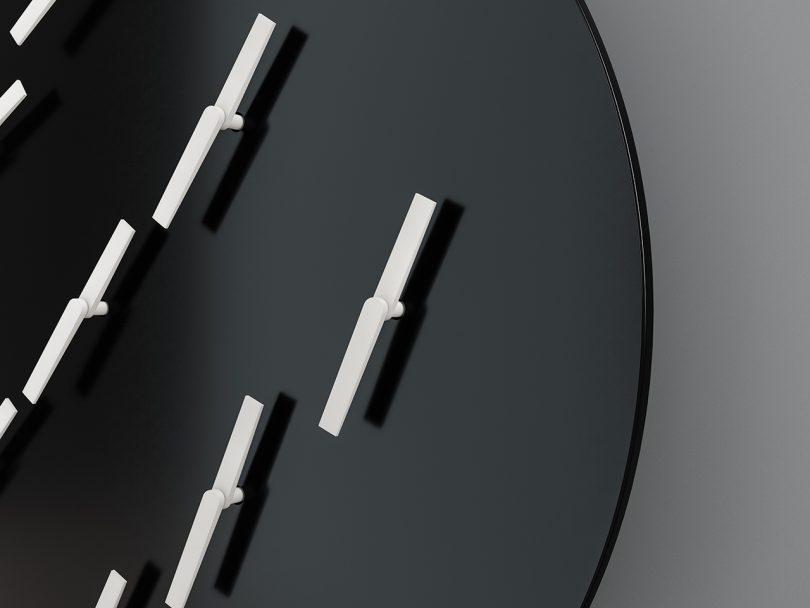 modern clock closeup