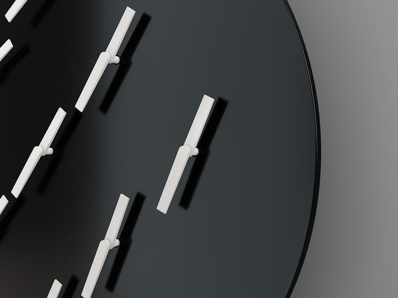 modern clock closeup