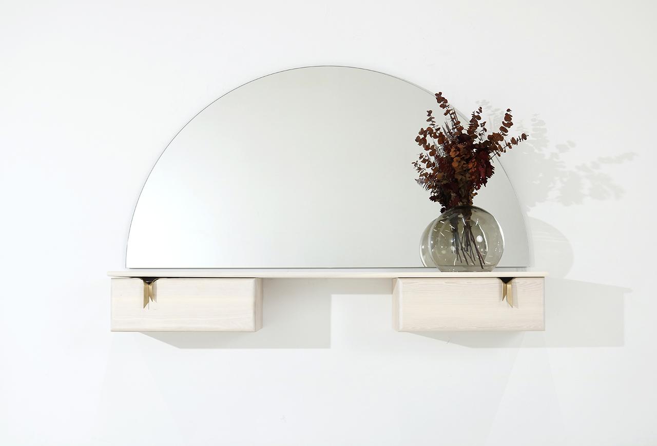 vanity hanging on wall