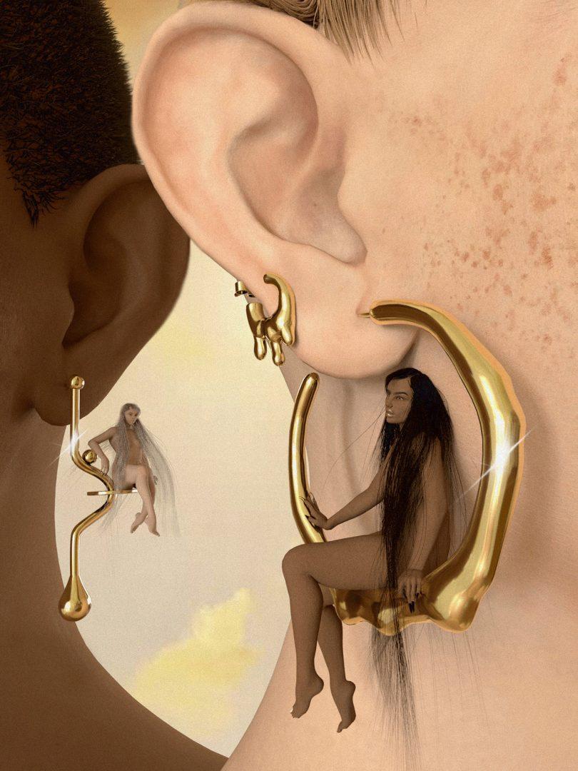 ear with earring