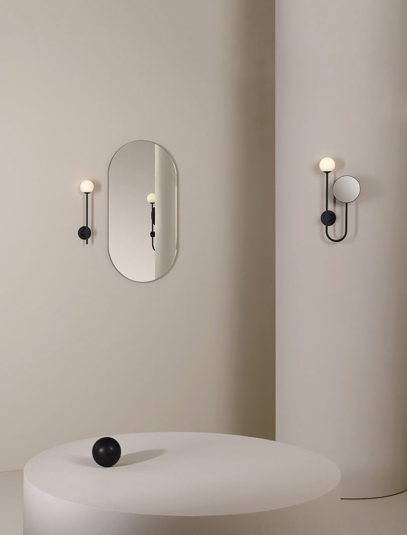 wall sconces and mirror