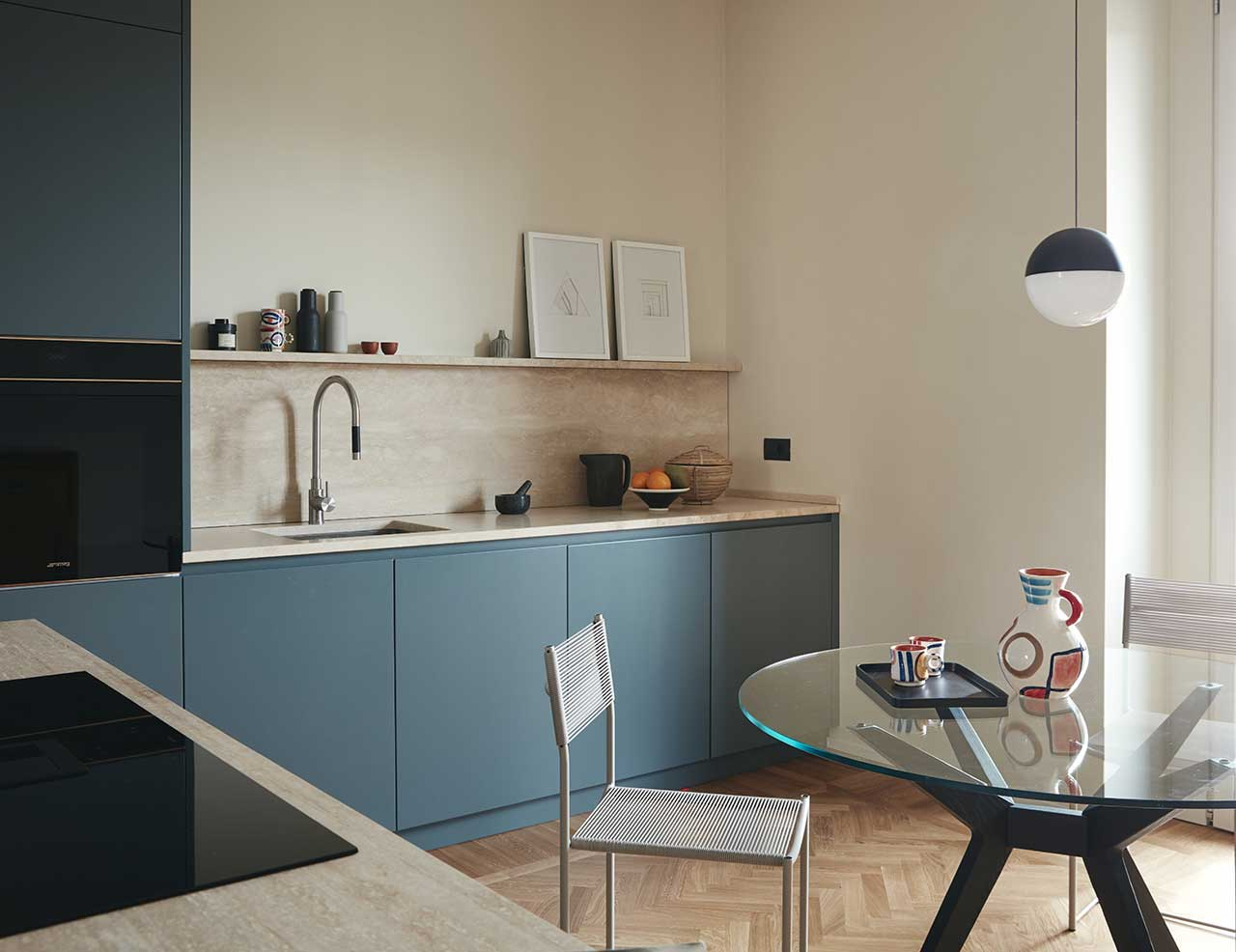 Two Apartments Become One Modern Home in Milan