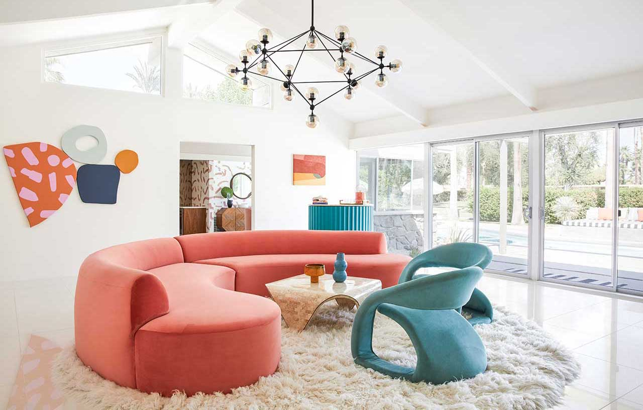 A Mid-Century Wexler Is Transformed With Vibrant Colors and Bold Patterns