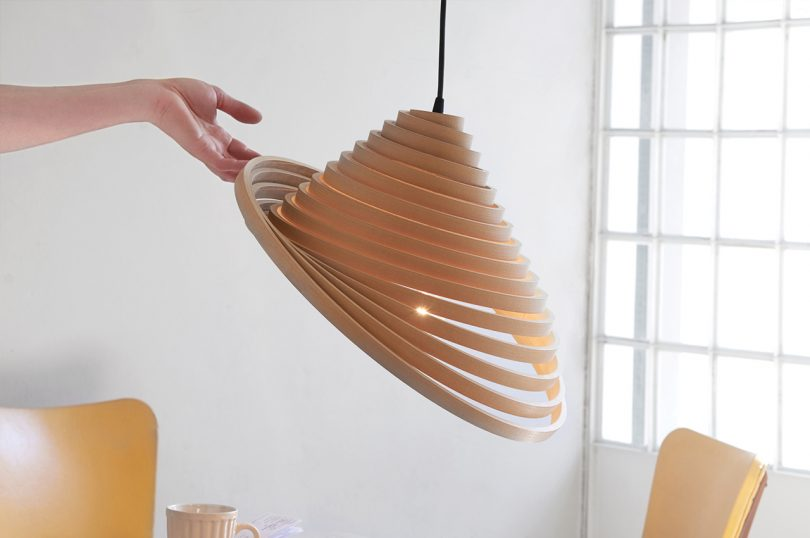 The Espinel Pendant Light Shows off Good Design + Concern for the Environment
