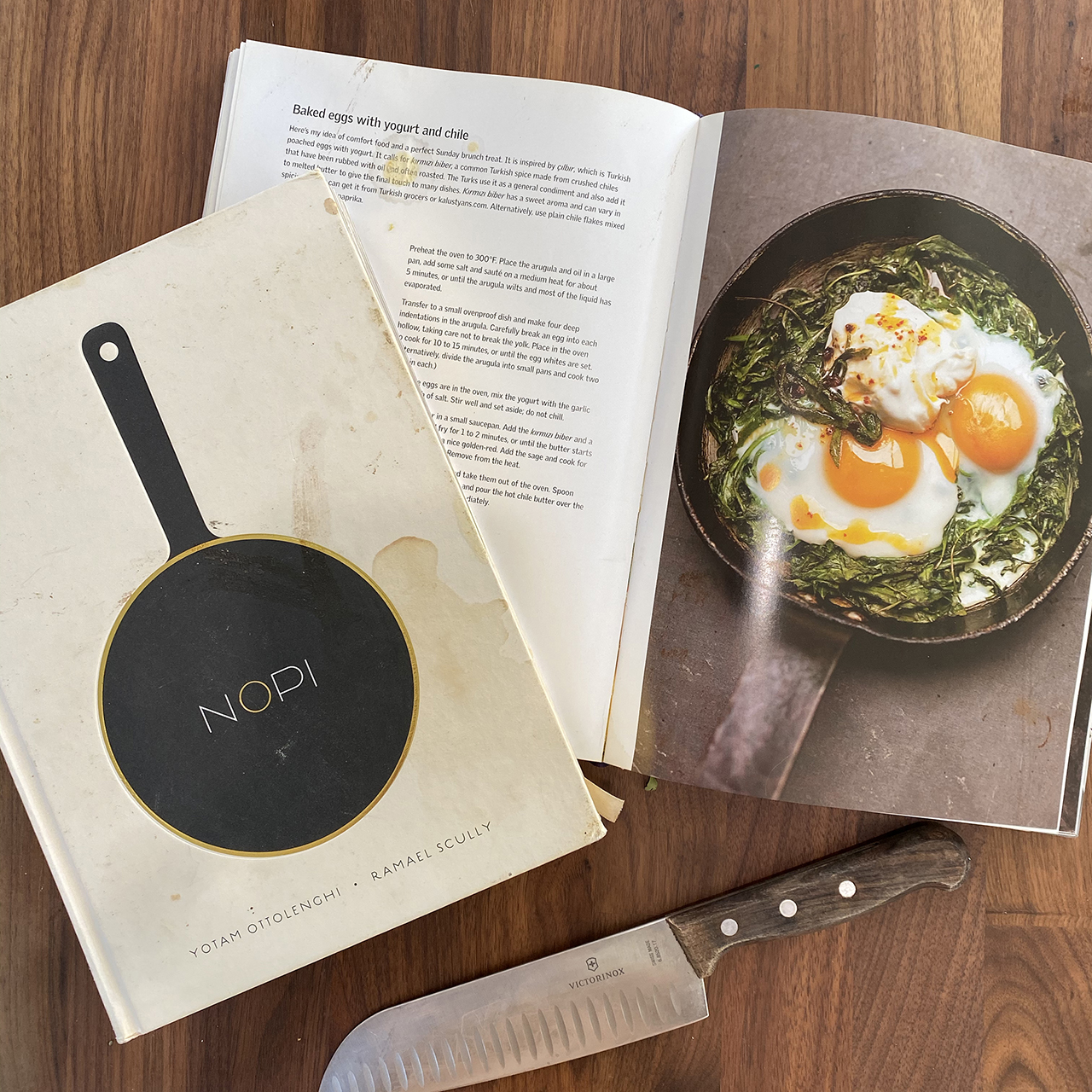 cookbook on counter