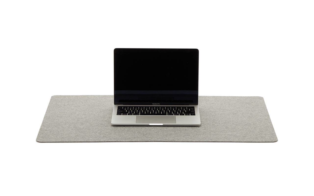 desk pad and laptop