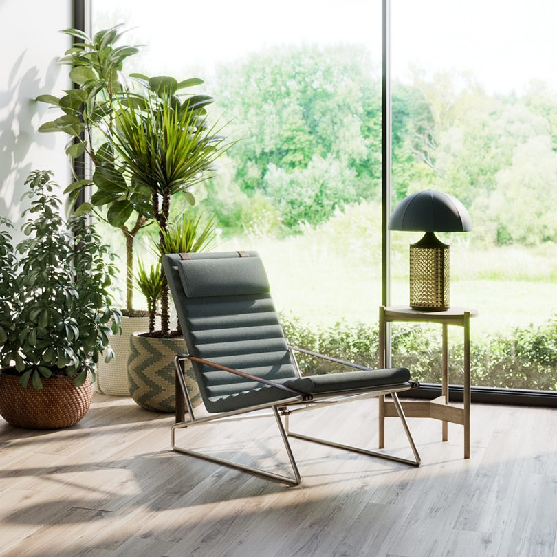 armchair in living space