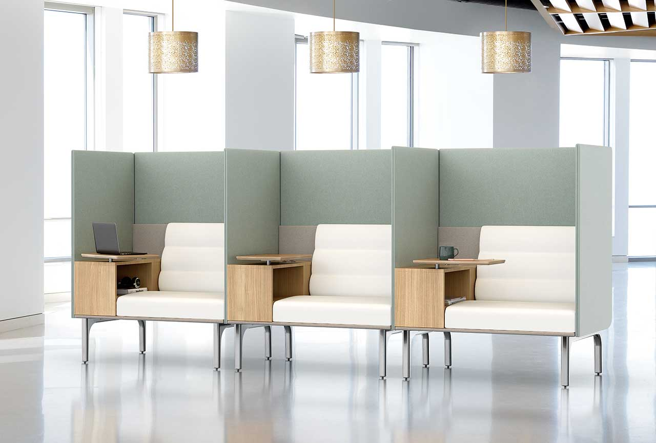 The Iso Work Lounge Lets You Work Together but Safely Apart