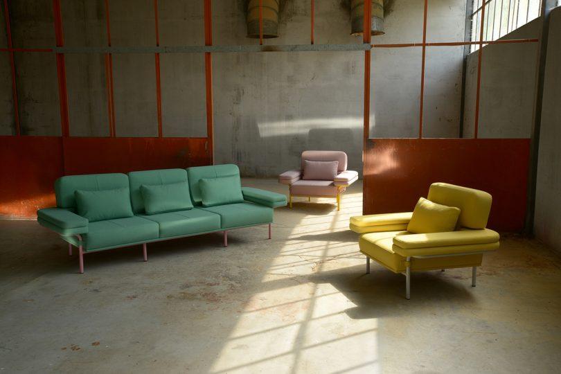 armchairs and sofa