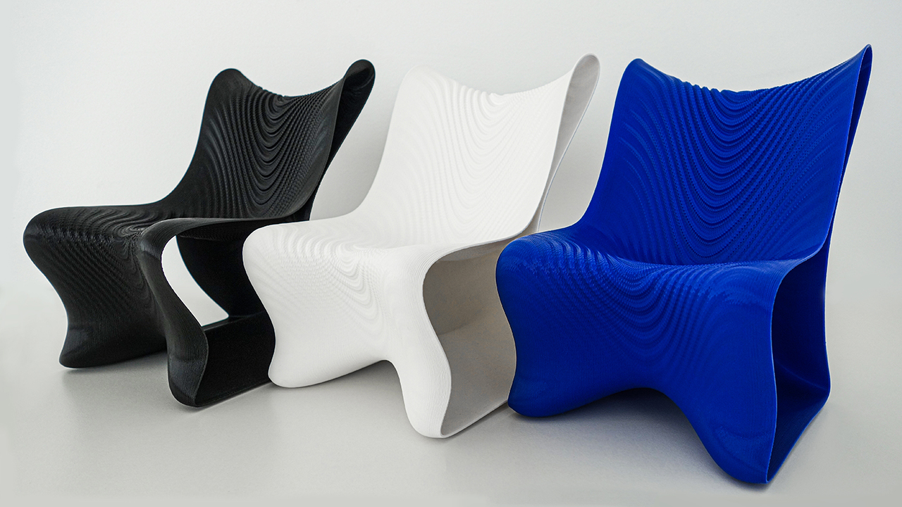 Undulating + Futuristic, Meet the Mawj 3D Printed Chair