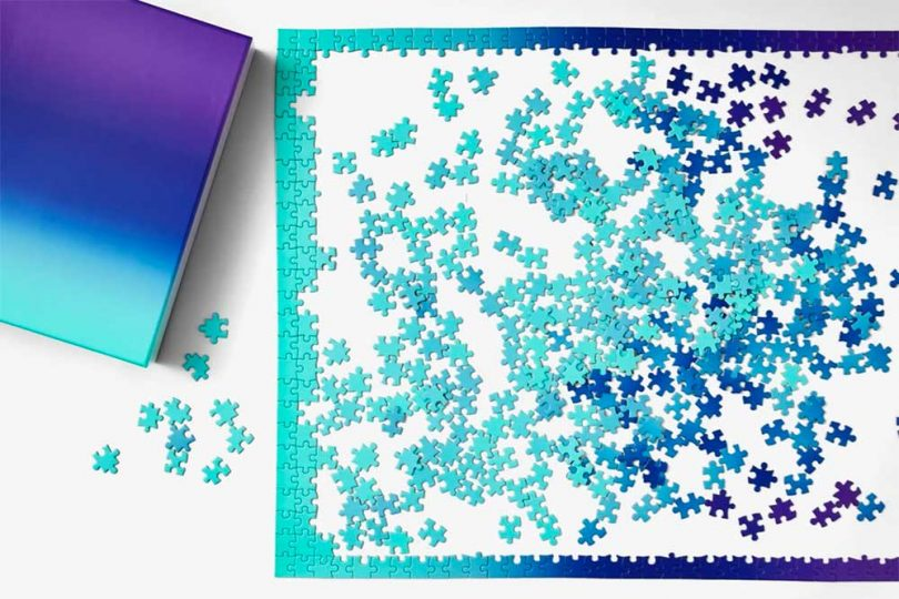 New Puzzles 2021 4 Areaware Gradient Teal Blue Purple