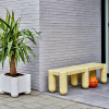 planter and bench