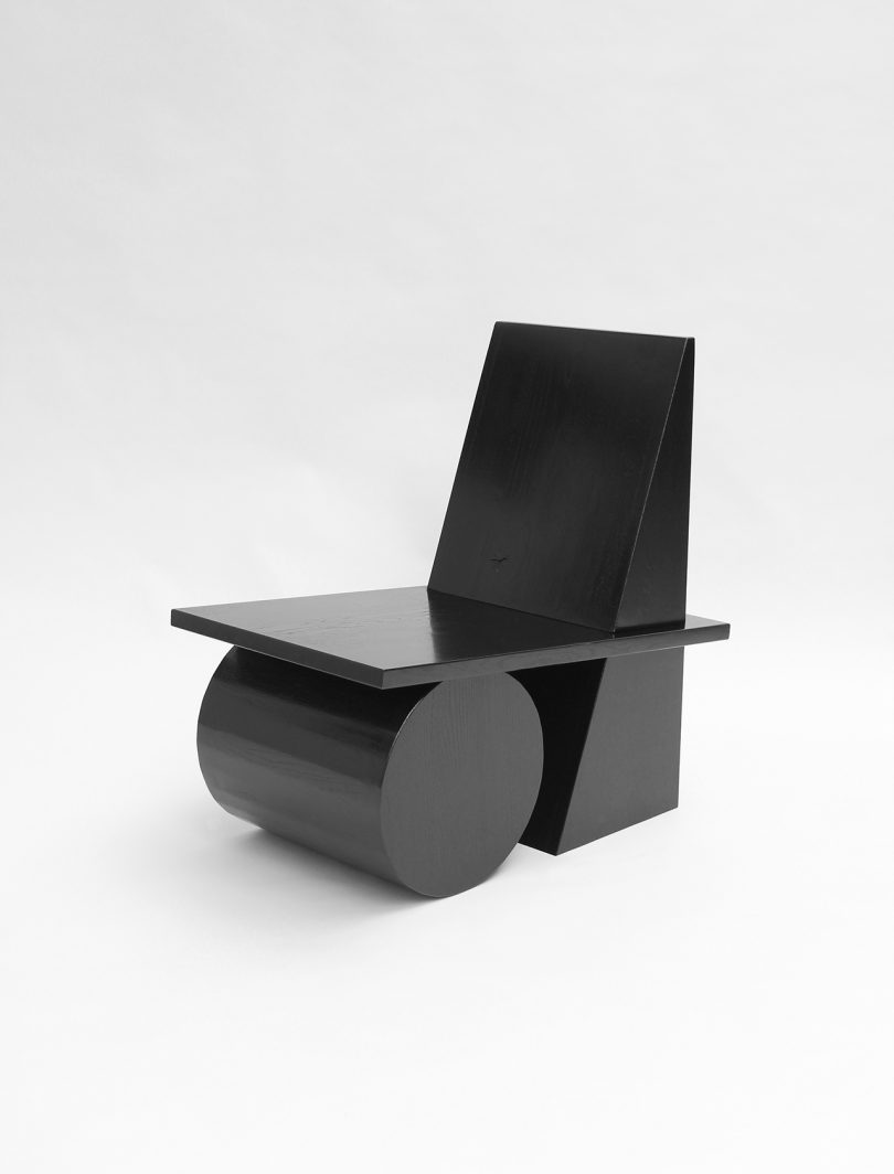 three quarter view of chair