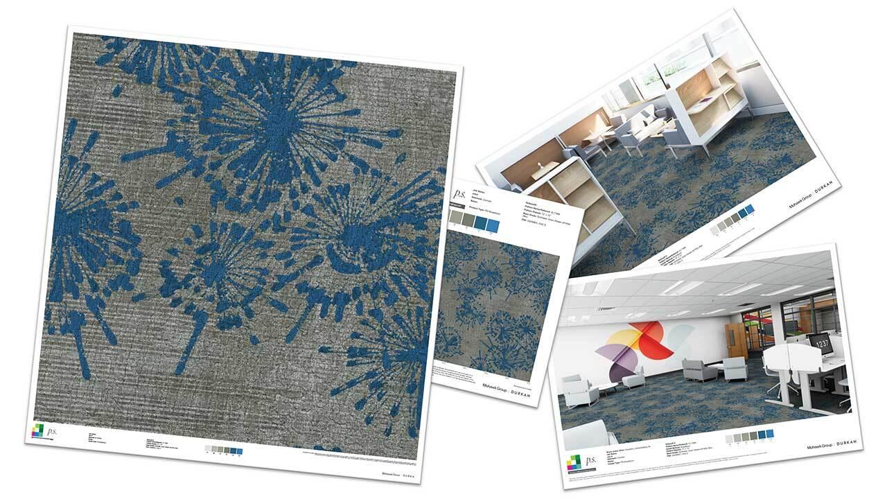 collaged carpeting