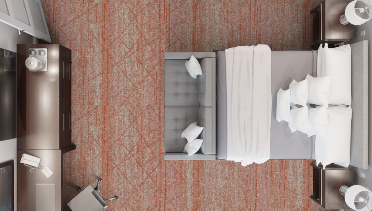 3D rendered bedroom