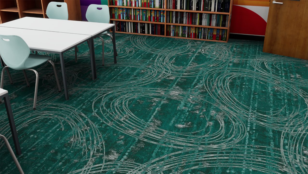 carpet in library