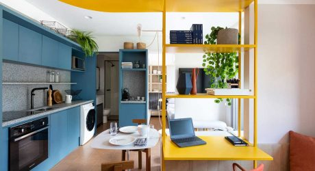 A Studio Apartment in São Paulo With a Vibrant Color Palette