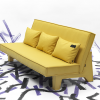 yellow three seat sofa