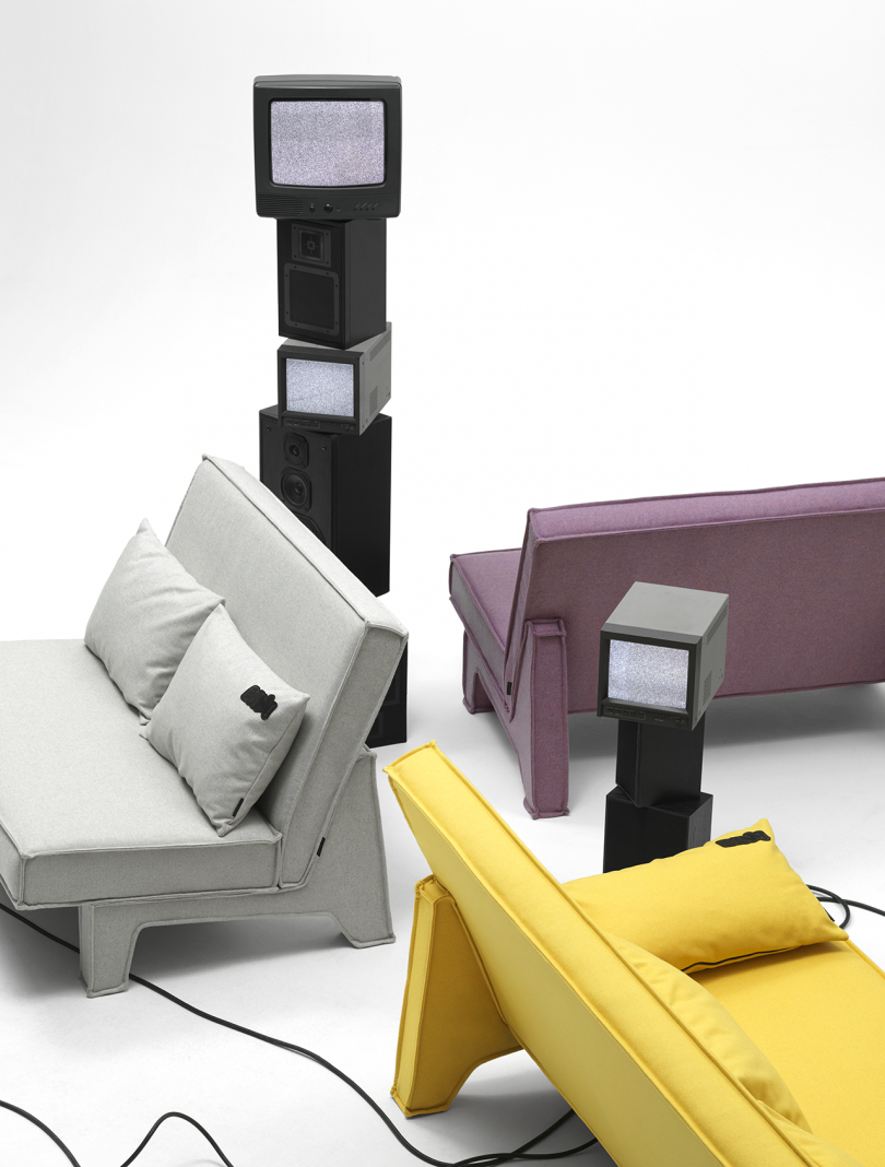 three sofas