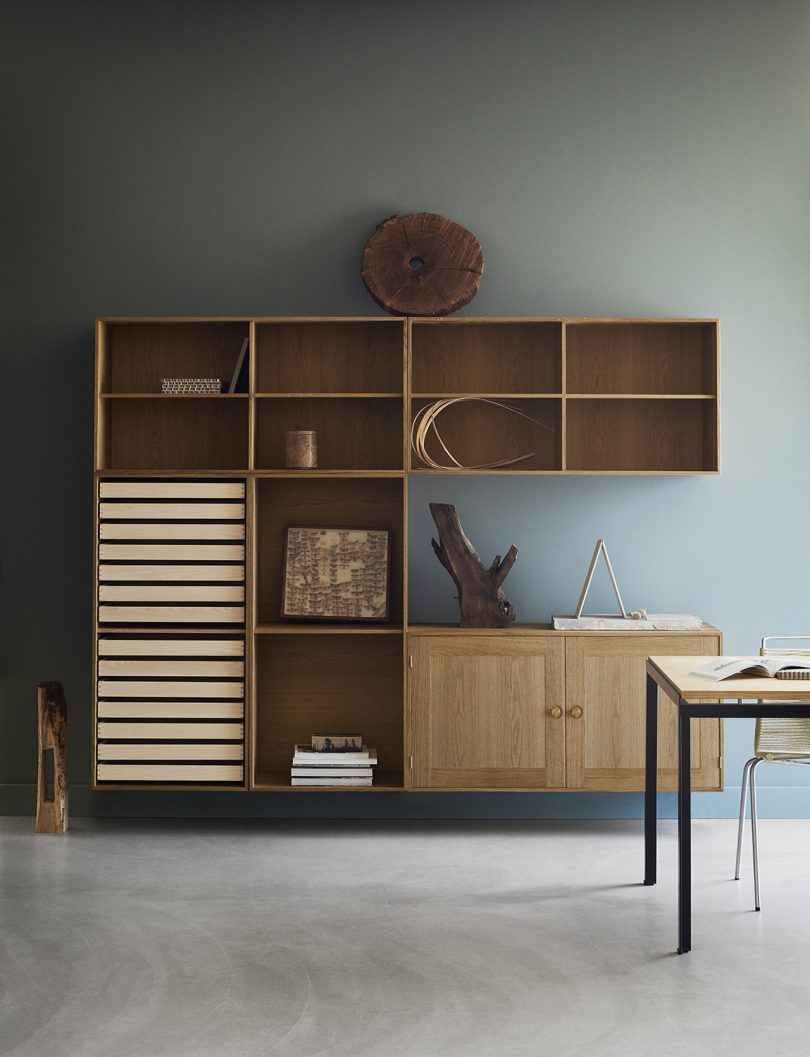 shelving in interior space