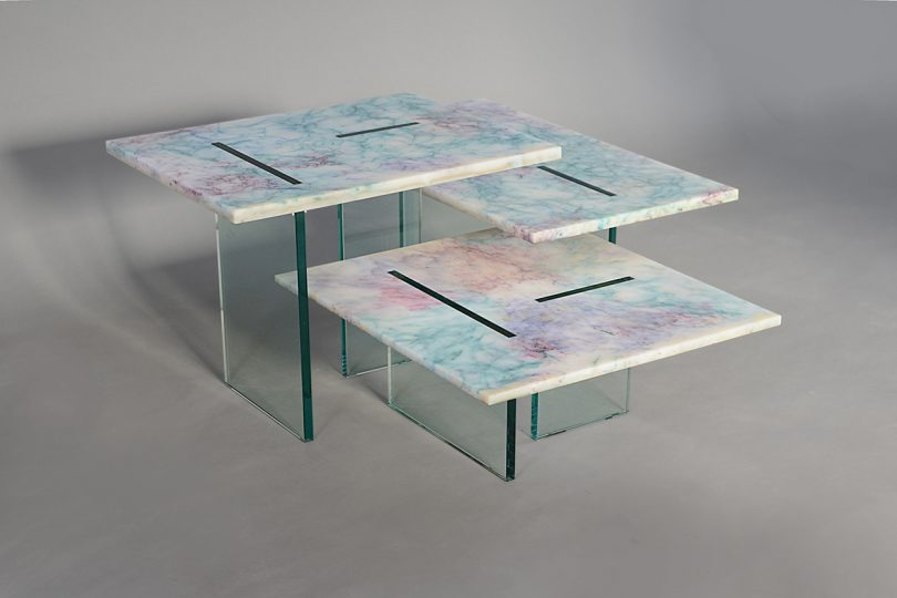 trio of tables