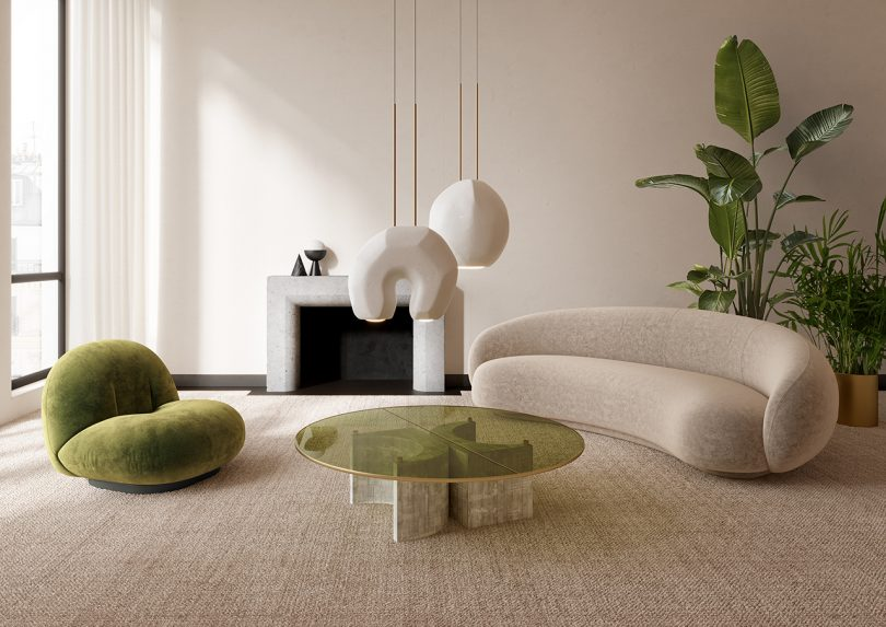 lighting collection in living space