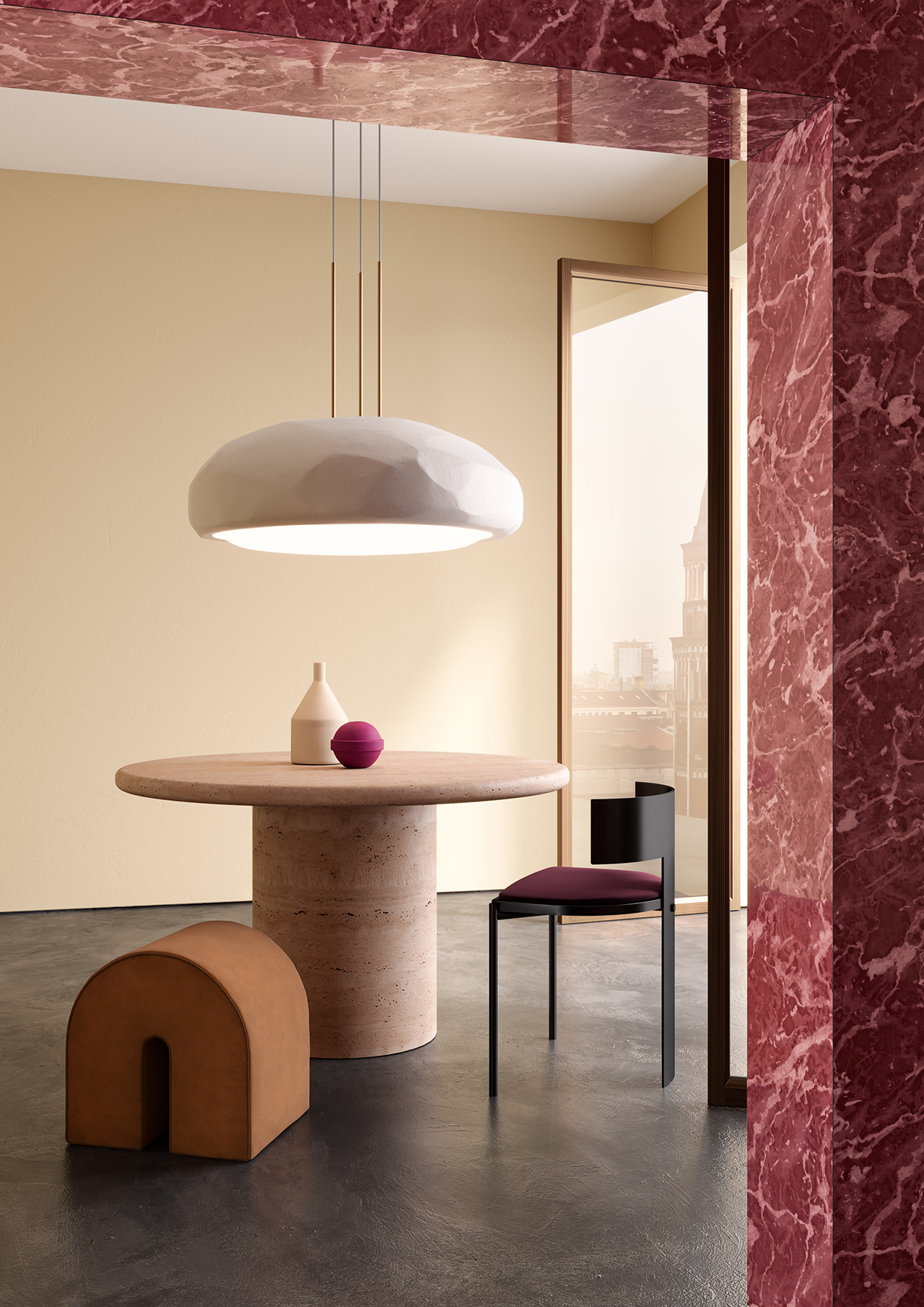 pendant light in living space