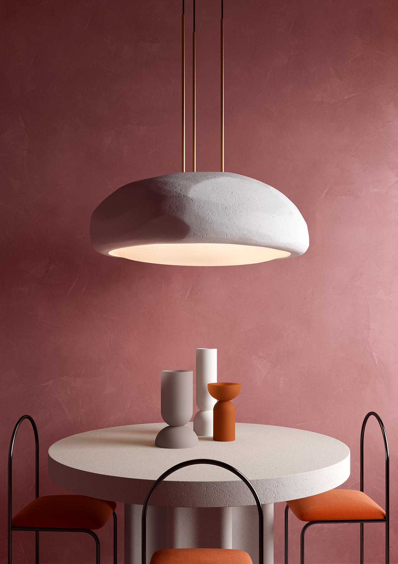 pendant lighting in living space