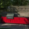 outdoor kitchen in yard