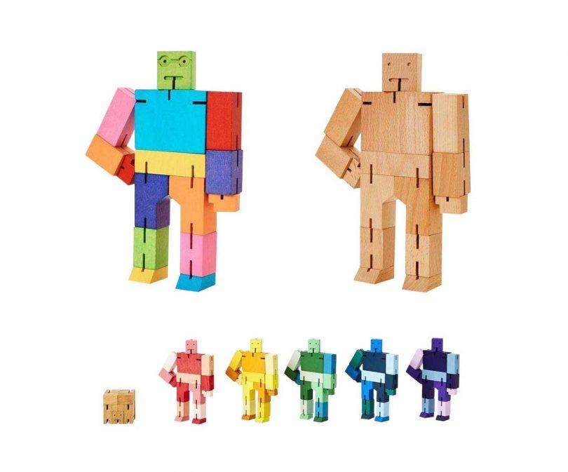 Cubebot wooden robots