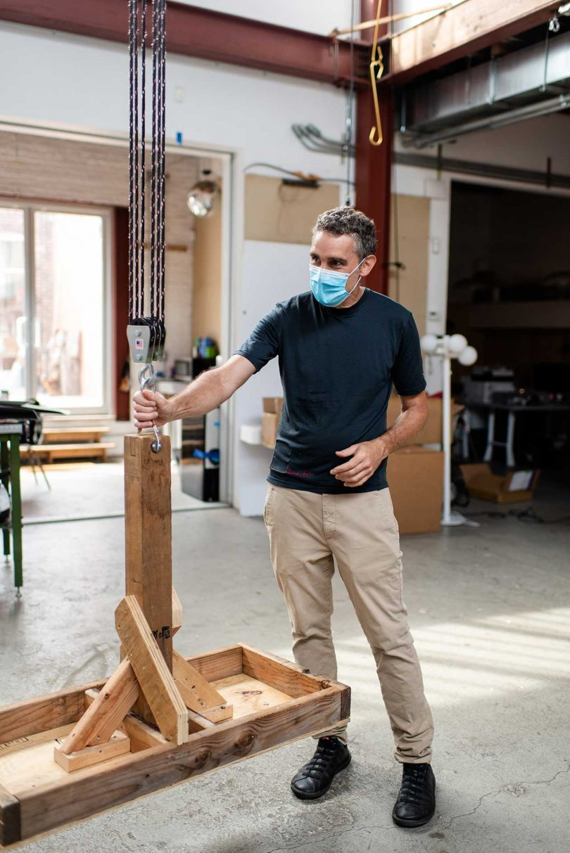 David Weeks in mask