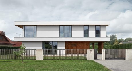 A Minimalist Home in Riga Characterized by Three Slabs
