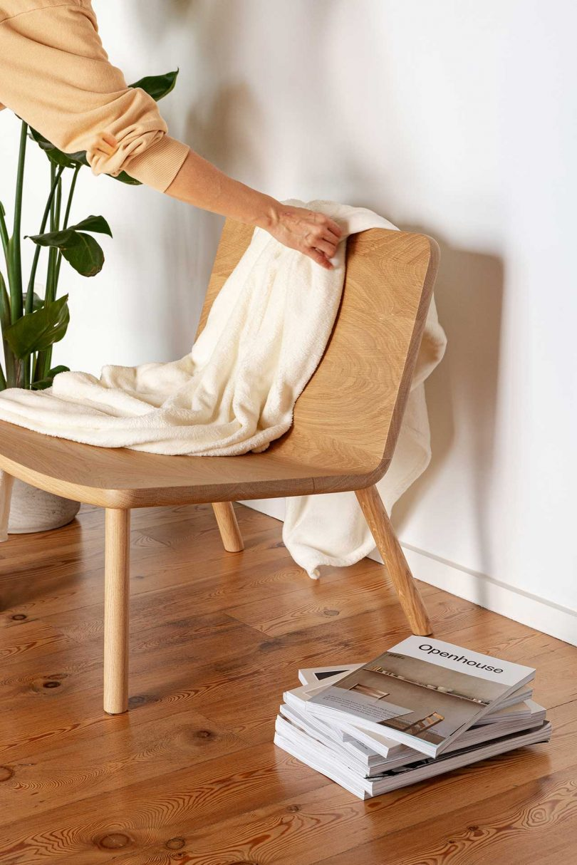 styled wooden chair