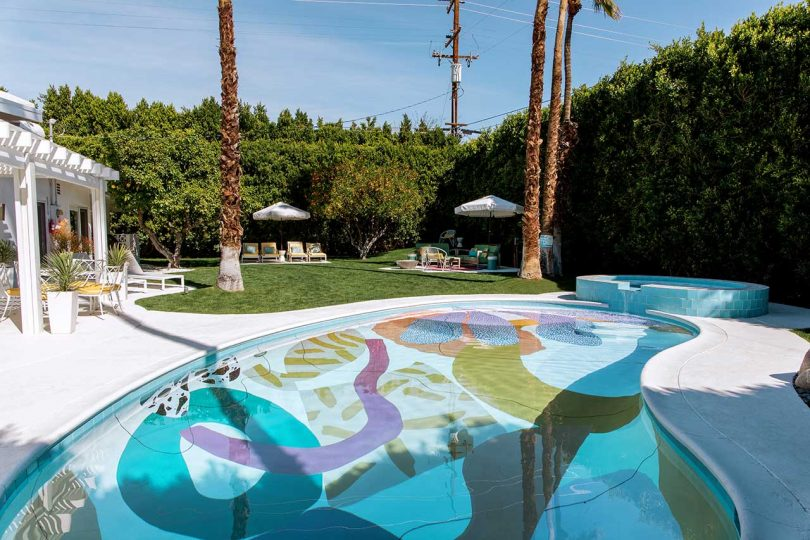 Alex Proba Turns Basic Pools into Works of Abstract Art