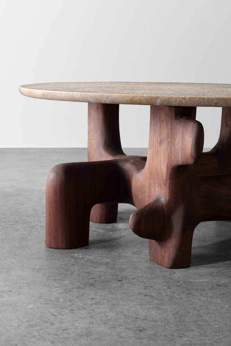 sculptural table