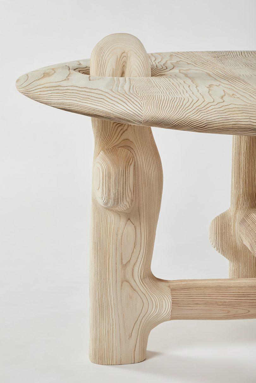 sculptural table detail