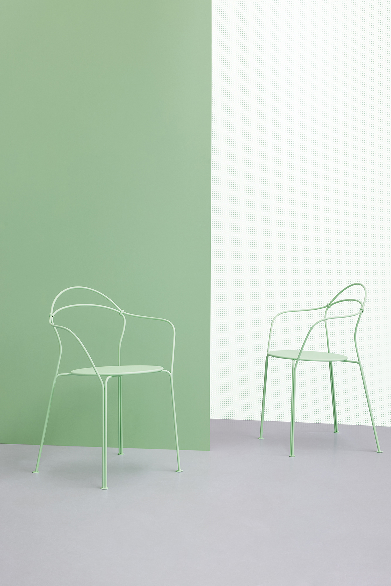 two cafe chairs