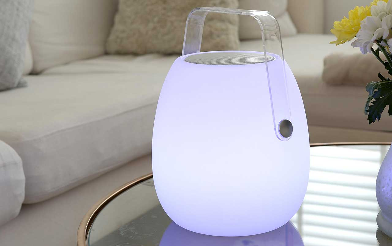 Koble Speaker Lanterns and Smart Side Tables With Speakers